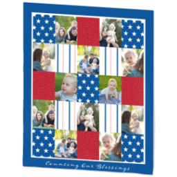 Thumbnail for 50x60 Plush Fleece Blanket with Americana design 2