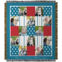 Thumbnail for 50x60 Photo Woven Throw with Americana design 1
