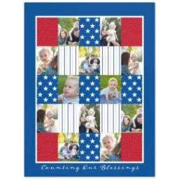 Thumbnail for 60x80 Plush Fleece Blanket with Americana design 1
