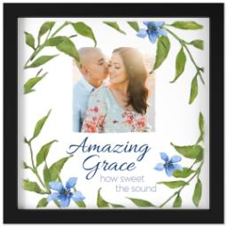 Thumbnail for 12x12 Photo Canvas With Contemporary Frame with Amazing Grace design 1
