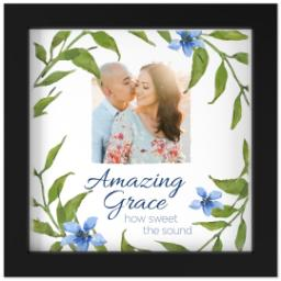 Thumbnail for 8x8 Photo Canvas With Contemporary Frame with Amazing Grace design 1