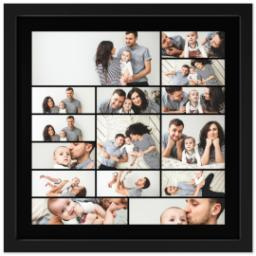 Thumbnail for 16x16 Collage Canvas With Contemporary Frame with Custom Color Collage design 1