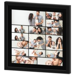 Thumbnail for 16x16 Collage Canvas With Contemporary Frame with Custom Color Collage design 2