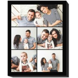 Thumbnail for 16x20 Collage Photo Canvas with Custom Color Collage design 1