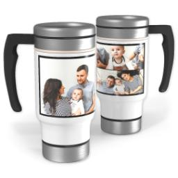 Thumbnail for Stainless Steel Collage Photo Travel Mug, 14oz with Custom Color Collage design 1