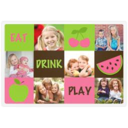 Thumbnail for Photo Placemat with Eat Drink Play design 1
