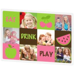 Thumbnail for Photo Placemat with Eat Drink Play design 2