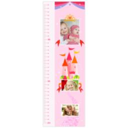 Thumbnail for Photo Growth Chart with Girl Pink Princess design 1