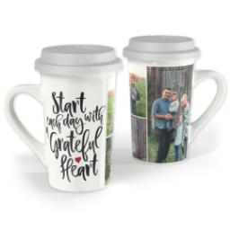 Thumbnail for Premium Grande Photo Mug with Lid, 16oz with Grateful Heart design 1