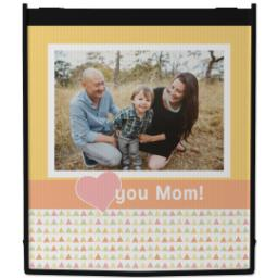 Thumbnail for Reusable Grocery Bag with Heart Mom design 1