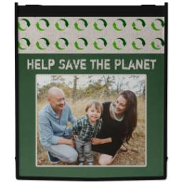 Thumbnail for Reusable Grocery Bag with Recycle Signs design 1