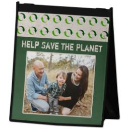 Thumbnail for Reusable Grocery Bag with Recycle Signs design 2