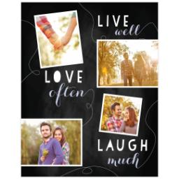 Thumbnail for Poster, 11x14, Premium Metallic Paper with Chalk Board Live Love Laugh design 1