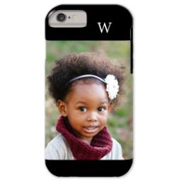Thumbnail for iPhone 6 Custom Case-Mate Tough Phone Case with Gallery Black Monogram design 1