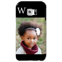 Thumbnail for Samsung Galaxy S6 Photo Tough Phone Case with Gallery Black Monogram design 1