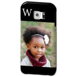 Thumbnail for Samsung Galaxy S6 Photo Tough Phone Case with Gallery Black Monogram design 2