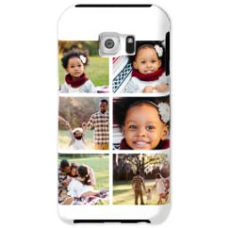 Thumbnail for Samsung Galaxy S6 Photo Tough Phone Case with Gallery White Collage for 6 design 1