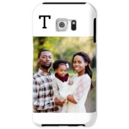 Thumbnail for Samsung Galaxy S6 Photo Tough Phone Case with Gallery White Monogram design 1