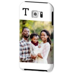 Thumbnail for Samsung Galaxy S6 Photo Tough Phone Case with Gallery White Monogram design 2