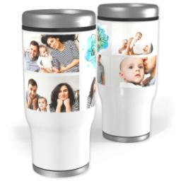 Thumbnail for Stainless Steel Tumbler, 13oz with Enjoy Little Things design 1