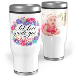 Thumbnail for Stainless Steel Tumbler, 13oz with Love Guides You design 1