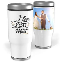 Thumbnail for Stainless Steel Tumbler, 13oz with Love You Most design 1