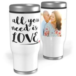 Thumbnail for Stainless Steel Tumbler, 13oz with Need Love design 1