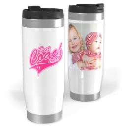 Thumbnail for Premium Tumbler Photo Travel Mug, 14oz with Best Coach Pink design 1