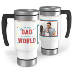 Thumbnail for Stainless Steel Photo Travel Mug, 14oz with Best Dad In The World design 1