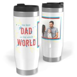 Thumbnail for Premium Tumbler Photo Travel Mug, 14oz with Best Dad In The World design 1