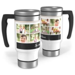 Thumbnail for Stainless Steel Photo Travel Mug, 14oz with Chalkboard Bar design 1