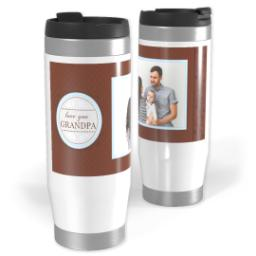 Thumbnail for Premium Tumbler Photo Travel Mug, 14oz with Chocolate Flourish Grandpa design 1