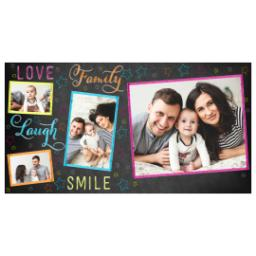 Thumbnail for Premium Tumbler Photo Travel Mug, 14oz with Colorful Family Chalkboard design 2