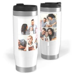 Thumbnail for Premium Tumbler Photo Travel Mug, 14oz with Emblem Aunt design 1