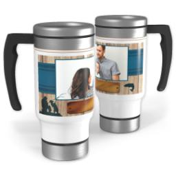 Thumbnail for Stainless Steel Photo Travel Mug, 14oz with Fishing Dad design 1