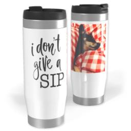 Thumbnail for Premium Tumbler Photo Travel Mug, 14oz with Give A Sip design 1