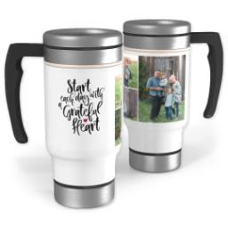 Thumbnail for Stainless Steel Photo Travel Mug, 14oz with Grateful Heart design 1