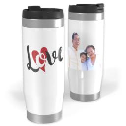 Thumbnail for Premium Tumbler Photo Travel Mug, 14oz with Love Hearts design 1