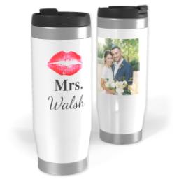 Thumbnail for Premium Tumbler Photo Travel Mug, 14oz with Mrs Lips design 1