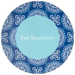 Thumbnail for 10x10 Melamine Photo Plate with Blue Medallions design 1