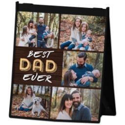 Thumbnail for Reusable Grocery Bag with Best Dad Collage design 2