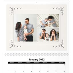 Thumbnail for 11x14, 18 Month Deluxe Photo Calendar with Art Deco design 3