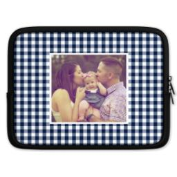 Thumbnail for Tablet Case with Blue Checkered design 1
