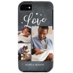 Thumbnail for iPhone 5 Custom Photo Case-Mate Tough Case with Chalkboard Love Script design 1