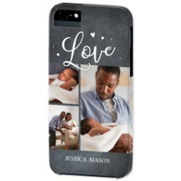 Thumbnail for iPhone 5 Custom Photo Case-Mate Tough Case with Chalkboard Love Script design 2