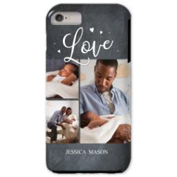 Thumbnail for iPhone 6/6s Plus Photo Tough Phone Case with Chalkboard Love Script design 1