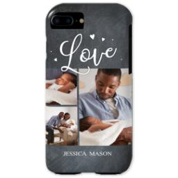 Thumbnail for iPhone 7 Photo Tough Phone Case with Chalkboard Love Script design 1
