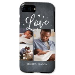 Thumbnail for iPhone 7 Photo Tough Phone Case with Chalkboard Love Script design 2