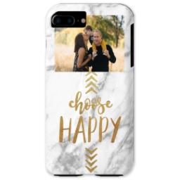Thumbnail for iPhone 7 Photo Plus Tough Phone Case with Choose Happy design 1