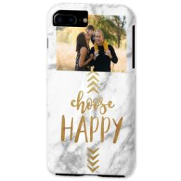 Thumbnail for iPhone 7 Photo Plus Tough Phone Case with Choose Happy design 2
